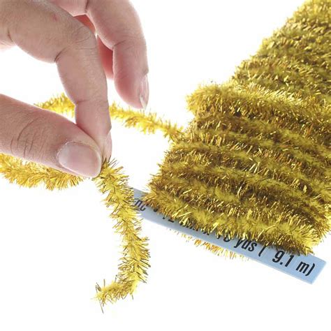 gold tinsel wireless chenille rope garland pipe cleaners chenille stems basic craft