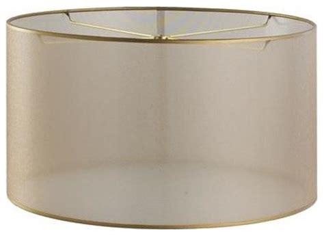 drum l shades uk 15 inch sheer elegance organza drum shade gold