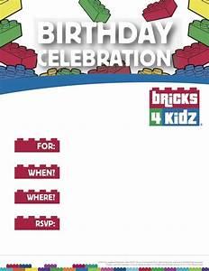 BRICKS 4 KIDZ Parties Events With LEGO Bricks Invitation 1