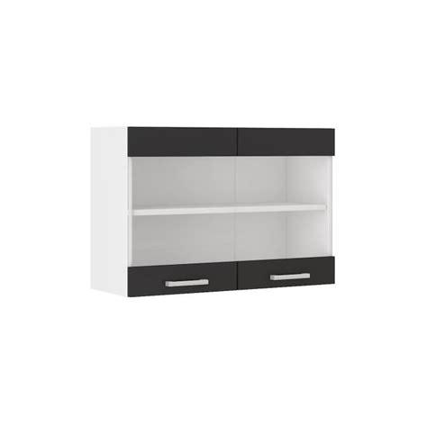 elements haut cuisine ultra meuble haut de cuisine l 80 cm noir achat