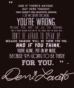 Beauty Quotes Demi Lovato. QuotesGram