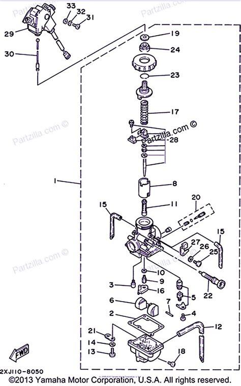 yamaha blaster carburetor diagram yamaha old bikes list