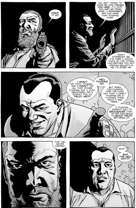 Negan Tries To Earn Rick Grimes's Trust (The Walking Dead