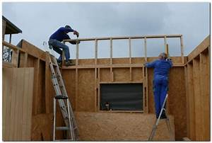 garage ossature bois toit plat garage ossature bois faux With awesome des plans pour maison 14 parpaing la triskeline