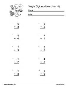 two digit addition and subtraction with regrouping worksheets one digit addition worksheets free printable allfreeprintable