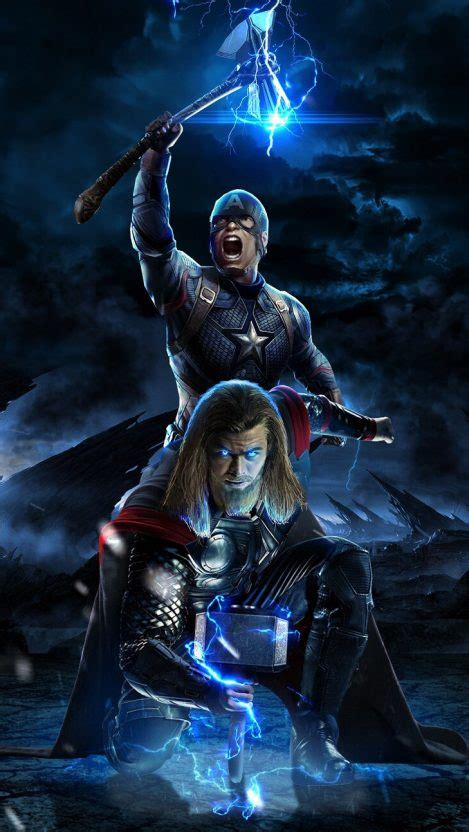 Endgame Iphone 11 Wallpaper by Captain America And Thor Endgame Battle Iphone