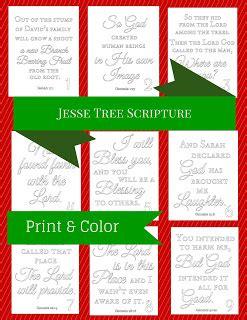 prudent pantry jesse tree scripture printable
