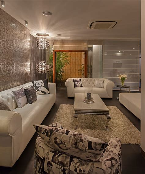 Livingroom Design by Pendant Lights And Black And White Sofa Sets In Rustic