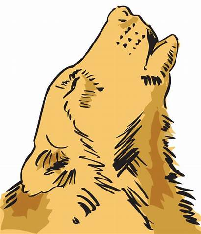 Wolf Howling Clip Clker Svg Clipart Vector
