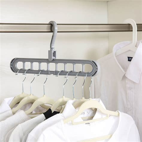 clothes hangers  hole multi port support circle magic clothes hanger support baby coat