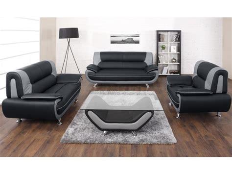 canapé noir et gris canapé et fauteuil en simili noir et gris ou nigel