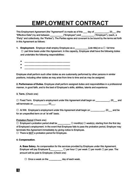 Job Agreement Letter - Collection - Letter Templates