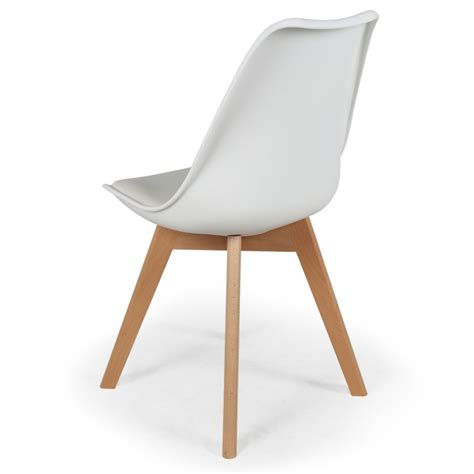 chaises design scandinave lot de 2 chaises design scandinave ericka blanc pas cher