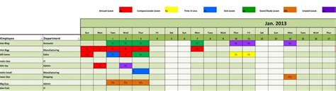 staff leave planning scheduling management excel