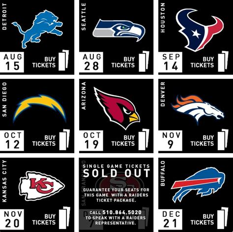 raiders  ers single game   sold