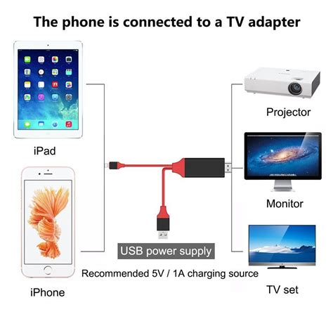 how to connect iphone to smart tv wireless new lightning 8pin to hdmi hdtv play adapter cable
