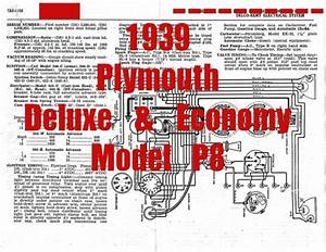1939 Plymouth Deluxe  U0026 Economy Model P8 Full Car Wiring