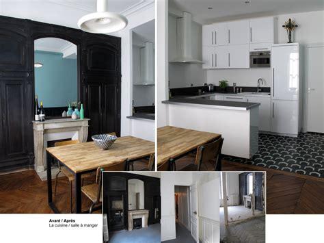 cuisine appartement parisien avant après un appartement parisien rénové joli place