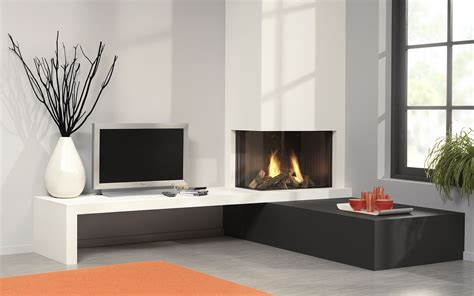 luxury contemporary fireplaces stoves  burning