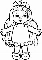Doll Coloring Drawing Pages Toys Sheets Dolls Rag Ugly Toy Action Colouring Printable Paper Smiling Drawings Getcolorings Chica Chucky Figure sketch template