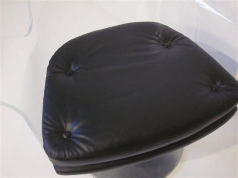 Lucite Upholstered Swivel Chair For Sale At 1stdibs