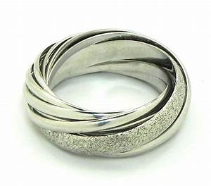 ladies 18k white gold trinity style wedding bands rings With images of white gold wedding rings
