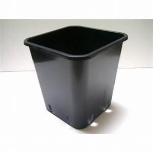 Topf 20 Liter : topf viereckig schwarz 9 liter 23 x 23 x 24 cm hansagrow ~ Orissabook.com Haus und Dekorationen