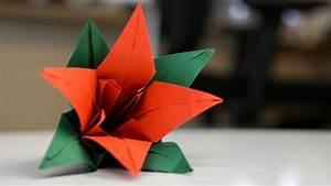 Origami Blumen Falten : origami blume aus papier falten faltanleitung youtube ~ Watch28wear.com Haus und Dekorationen