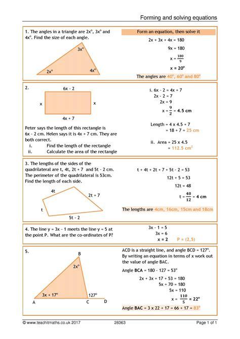 ks4 linear equations teachit maths