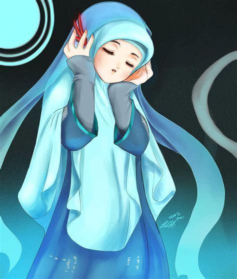 Hijab Muslimah Anime Drawing Hijaber Cartoons Pinterest