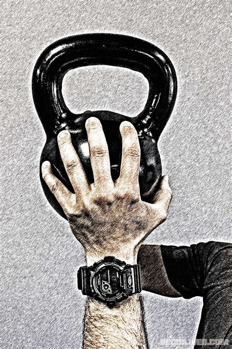 grip strength training kettlebell hold tight overhead press crush ball position
