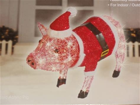 lighted pig lawn ornament christmas 27 quot lighted acrylic pig yard decoration indoor outdoor 100 lights new ebay