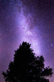 Purple Night Sky Moon