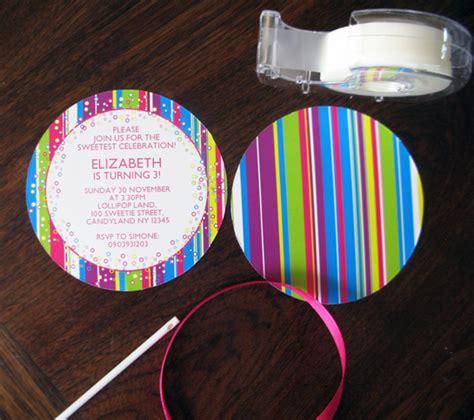lollipop invitation    candyland printable collection