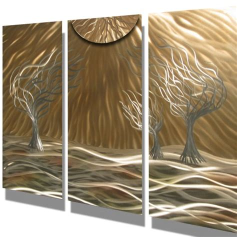 modern metal wall sculpture metal wall abstract contemporary modern sculpture hanging 3 trees milesshay painting on