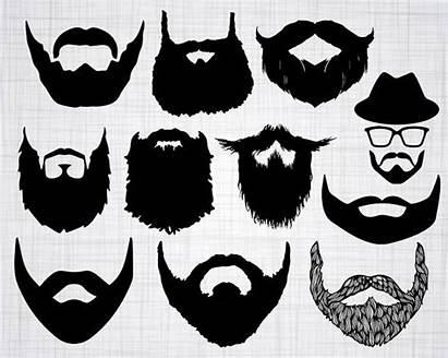 Beard Svg Clipart Cut Silhouette Cricut Bundle