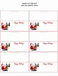 Printable Christmas Table Place Cards