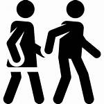 Walking Icon Svg Icons Couple Vector Park