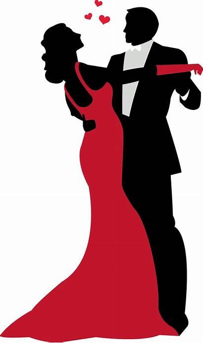 Dancing Dance Couple Clipart Ballroom Silhouette Prom
