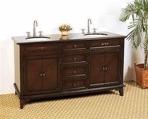 685 inch double sink bathroom vanity with deep chestnut With 68 inch bathroom vanity