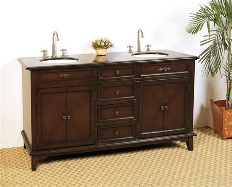 68.5 Inch Double Sink Bathroom Vanity with Deep Chestnut