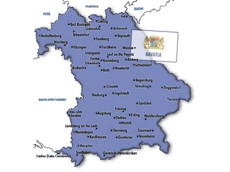 map of Bavaria - Bavaria | Travel fun, Best travel deals, Trip