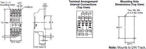 Dimension Wiring Diagram by My Gs Miniature Power Relays Dimensions Omron Industrial