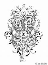 Poker Face Tattoo Deviantart Tattoos Chicano Skull Coloring Jam Pokerface Cards Queen Camp Colouring Adult James sketch template