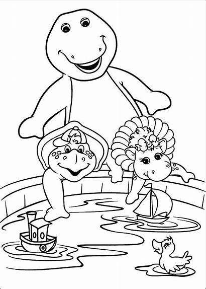 Barney Coloring Pages Barnie