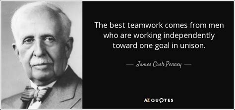 james cash penney quote   teamwork   men