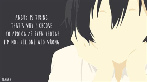Anime Quotes Wallpaper - kun quotes minimalist wallpaper by oreki eru on