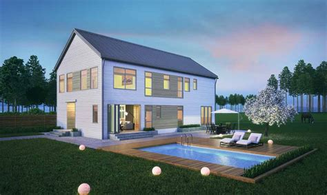 Modern Eco Friendly House Plans With Pool — Modern House
