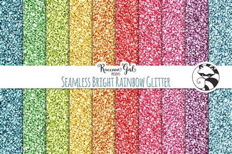 seamless bright rainbow glitter textures creative market