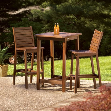 Outside Table Chairs by Oxford Garden Dartmoor 28 In Square Bar Height Patio